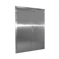 Двери двустворчатые холодильные