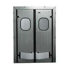 Двери двустворчатые маятниковые